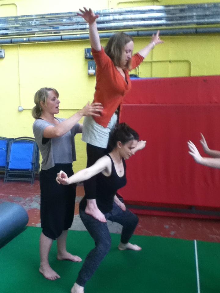 Acro-balance practice