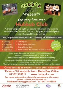Hubbub Club flyer